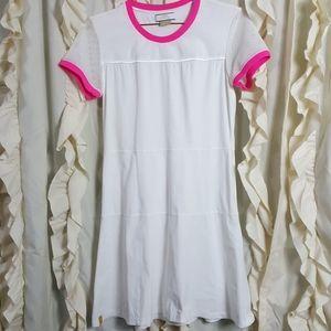 Monreal London White Tennis Dress Mesh Details Med